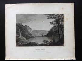 Hinton North America 1852 Antique Print. Harpers Ferry, Virginia